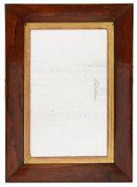 A late Regency rosewood cushion framed wall mirror c.1830