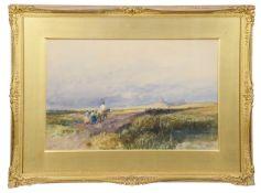 Thomas Bush Hardy (Brit., 1842-1897),'Dunstanburgh Castle' watercolour