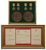Two WW1 casualty medal groups