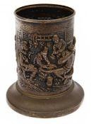 A Dutch .835 silver commemorative pen pot