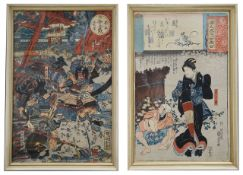 Two 19th century Japanese woodblock prints