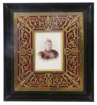 A late 19th century French photograph frame