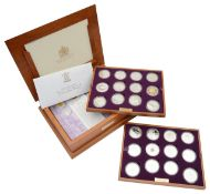 Royal Mint Queen Elizabeth II Golden Jubilee Collection of commemorative proof silver coins