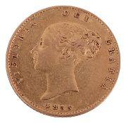 A Victorian gold half sovereign