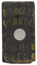 An early 20th c. engraved slate advertisement for Barclay Perkins and Co.'s Bottled Beers,