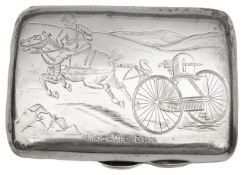 Military Interest. A late Victorian engraved cigarette case