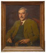 Julius Mahainz, (German, 1882-1966) 'Portrait of Hofrat Heinrich Gassner (1885-1948)' oil on canvas