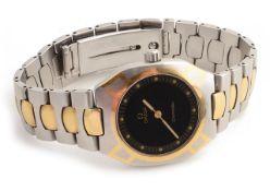 An Omega Seamaster bi metallic Polaris wristwatch