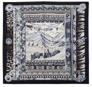An Hermes silk scarf 'La Femme Aux Semelles de Vent'
