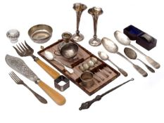 A collection of 19th century and later silver and plated items