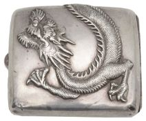 An early 20th century Chinese silver cigarette case,