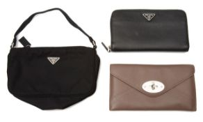 A Mulberry taupe leather purse