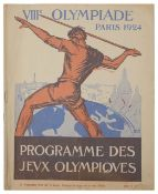Collection of rare and interesting 20th c. cycling ephemera relating primarily to the Olympic Games