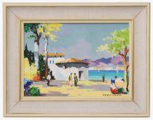C. R. D'Oyly John (Brit., 1906-1993) 'On the Costa Brava', oil on canvas