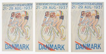 A collection of early and interesting cycling ephemera relating to World Championship events,