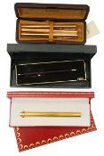 A Le Must de Cartier gold plated ball point pen