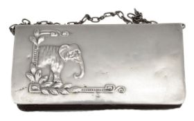 An early 20th century Russian silver purse,