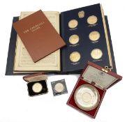 A Trustees Presentation Edition of the Churchill Centenary silver gilt medals