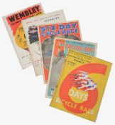 Early ephemera relating to 19th and 20th c. Brit. and Continental track cycling