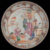 A late 18th century Chinese export famille rose dish