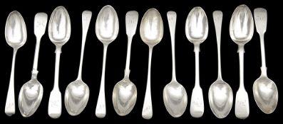 A sets of six Victorian silver teaspoons