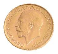A George V full sovereign