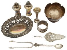 A small selection of silver items