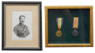 A W.W.I two medal group awarded to 96320 William Frederick Bizzell R.A.