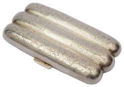 An Edwardian silver cigar case