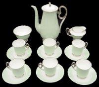 A Shelley Art Deco coffee set for six
