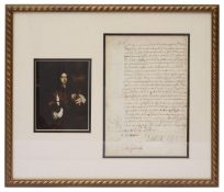 Arthur Capell, 1st Earl of Essex (1631-1683). A signed document,