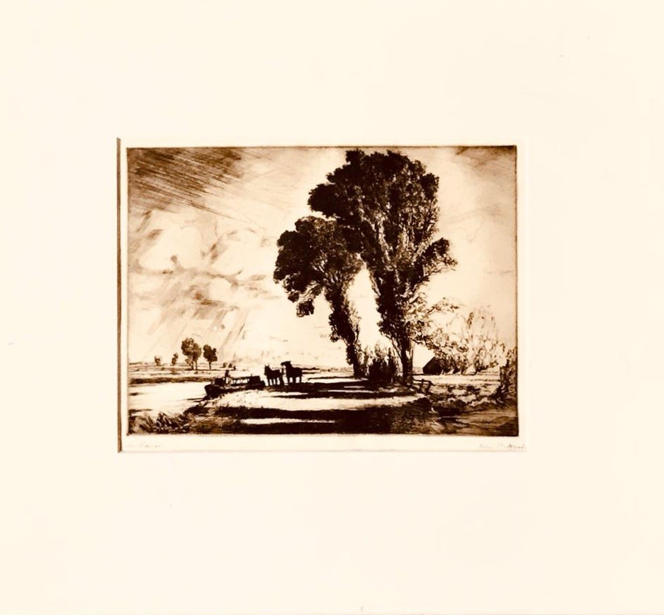 JOHN CLIFFORD ETCHING, SIGNED LOWER RIGHT, APPROXIMATELY 17.5 x 23cm