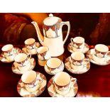 CROWN DUCAL COFFEE SET