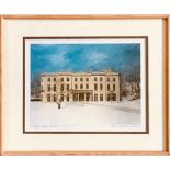GERALD RICKARDS- 'HAIGH HALL WINTER', PRINT, SIGNED LOWER RIGHT, APPROXIMATELY 15 x 20cm