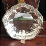 TIFFANY & CO SILVER SHAPED BOWL, STAMPED 'TIFFANY & CO STERLING SILVER', WEIGHT APPROXIMATELY 300g