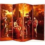 CIRCLE OF PIETER VAN LINT 1609-1690, IMPORTANT PAIR OF FINE OIL ON CANVAS SCREENS DEPICTING THE