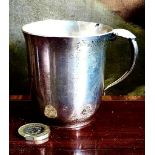 GEORG JENSEN SILVER COLOURED BEAKER, INSCRIBED 1940, WEIGHT APPROXIMATELY 25g AND APPROXIMATELY