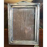 SILVER PHOTOGRAPH FRAME, BIRMINGHAM 1917, GLASS SIZE APPROXIMATELY 14 x 9.5cm