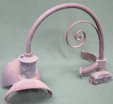 Late 19th/ Early 20th century cast iron GEC Z5202 open directional lantern. Approximately. 52cms
