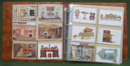 Album of Approximately 240+ postcards including Mabel Lucie Atwell, Beatrice Mallett, Nursery