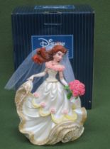 Boxed Disney Showcase Collection figure, depicting Belle in a wedding dress