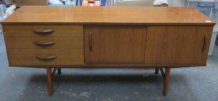 Avalon mid 20th century teak sideboard. Approx. 72cms H x 163cms W x 43.5cms D
