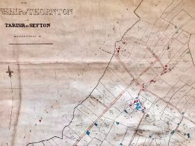 HAND DRAWN PLAN- PARISH OF THORNTON NEAR CROSBY LIVERPOOL, FOR BENEFIT OF RATE PAYERS, DATED 1848,
