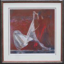 Robert Heindel - Framed pencil signed silkscreen print - Protecting Veil No. 10. Limited Edition No.