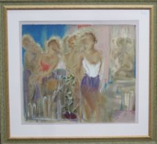 Janel Treby - Framed lithograph on woven paper - Morpheus III. Limited Edition No. 149/385.