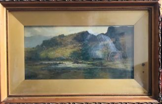 F T CARTER, OIL ON CANVASES OF RURAL SCENES, ONE NOT SIGNED, APPROXIMATELY 11 x 34cm