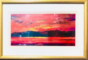 CONTEMPORARY FURNISHING OIL ON BOARD- 'FROM THE STUDIO OF R VALENTE', SIGNED LOWER RIGHT, FRAMED AND