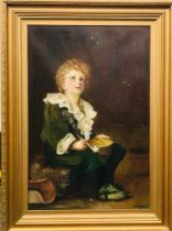 """A. D. TAYLOR - AFTER MILLAIS OIL ON CANVAS """"BUBBLES"""", AN ATTRACTIVE COPY, DATED 1907(?). APPROX."""
