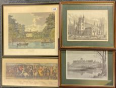 A group of four engravings and prints.
