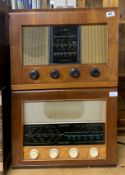 A wooden cased Bush radio type A.C.11 together with a further wooden cased Bush radio type A.C.34.